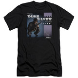 Parks and Recreation Album Cover Premium Canvas Adult Slim Fit T-Shirt Black