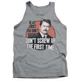 Parks and Recreation Don't Screw Up Adult Tank Top T-Shirt Athletic Heather