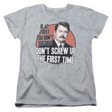 Parks and Recreation Don't Screw Up Women's T-Shirt Athletic Heather