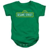 Sesame Street Rough Logo Baby Onesie T-Shirt Kelly Green