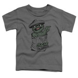 Sesame Street Early Grouch Toddler T-Shirt Charcoal