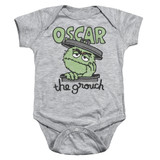 Sesame Street Canned Grouch Baby Onesie T-Shirt Athletic Heather
