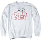 Sesame Street Elmo Letters Adult Crewneck Sweatshirt White