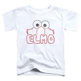 Sesame Street Elmo Letters Toddler T-Shirt White