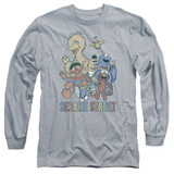 Sesame Street Colorful Group Adult Long Sleeve T-Shirt Athletic Heather