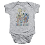 Sesame Street Colorful Group Baby Onesie T-Shirt Athletic Heather