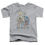 Sesame Street Colorful Group Toddler T-Shirt Athletic Heather