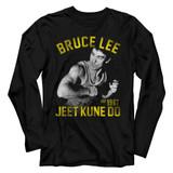 Bruce Lee Action Bruce Black Adult Long Sleeve T-Shirt