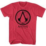 Assassins Creed Logos Cherry Heather Adult T-Shirt