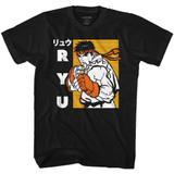 Street Fighter Ryu Black Adult T-Shirt