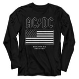 AC/DC Us Tour Flag Black Adult Long Sleeve T-Shirt
