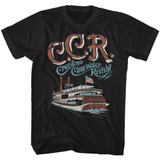 Creedence Clearwater Revival Riverboat Black Adult T-Shirt