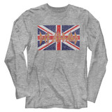 Def Leppard Def Leppard UK Flag Gray Heather Adult Long Sleeve T-Shirt