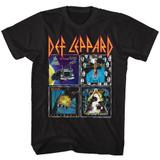 Def Leppard 80's Albums Black Adult T-Shirt
