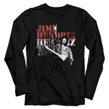Jimi Hendrix Jimi Peace Black Adult Long Sleeve T-Shirt