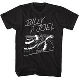 Billy Joel Sea Piano Black Adult T-Shirt