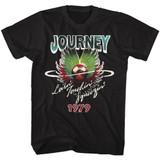 Journey Lovin Touchin Squeezin Black Adult T-Shirt