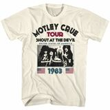 Motley Crue SATD83 Natural Adult T-Shirt