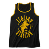 Rocky Italian Stallion Black/Gold Adult Tank Top T-Shirt