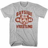 Saved By The Bell Bayside Wresting Gray Heather Adult T-Shirt