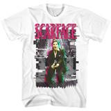 Scarface Glitch White Adult T-Shirt