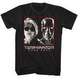 Terminator Dark Fate Sarah And Rev9 Black Adult T-Shirt