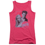 Beverly Hills 90210 Brandon And Kelly Junior Women's Tank Top T-Shirt Hot Pink