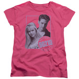 Beverly Hills 90210 Brandon And Kelly Women's T-Shirt Hot Pink