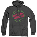 Beverly Hills 90210 Neon Adult Heather Hoodie Sweatshirt Black