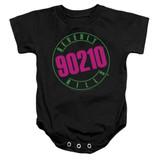 Beverly Hills 90210 Neon Baby Onesie T-Shirt Black