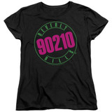 Beverly Hills 90210 Neon Women's T-Shirt Black