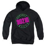 Beverly Hills 90210 Neon Youth Pullover Hoodie Sweatshirt Black