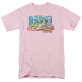 Beverly Hills 90210 Beach Babes Adult 18/1 T-Shirt Pink