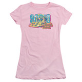 Beverly Hills 90210 Beach Babes Junior Women's Sheer T-Shirt Pink