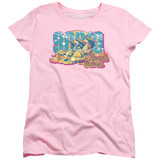 Beverly Hills 90210 Beach Babes Women's T-Shirt Pink