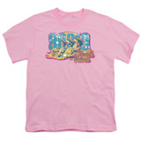 Beverly Hills 90210 Beach Babes Youth T-Shirt Pink