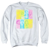 Beverly Hills 90210 Color Block Of Friends Adult Crewneck Sweatshirt White
