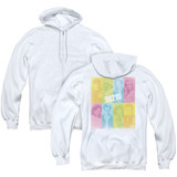 Beverly Hills 90210 Color Block Of Friends (Back Print) Adult Zipper Hoodie Sweatshirt White