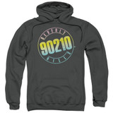 Beverly Hills 90210 Color Blend Logo Adult Pullover Hoodie Sweatshirt Charcoal