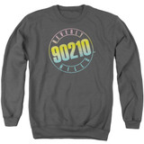Beverly Hills 90210 Color Blend Logo Adult Crewneck Sweatshirt Charcoal