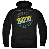 Beverly Hills 90210 Color Blend Logo Adult Pullover Hoodie Sweatshirt Black