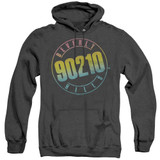 Beverly Hills 90210 Color Blend Logo Adult Heather Hoodie Sweatshirt Black