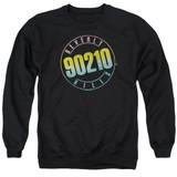 Beverly Hills 90210 Color Blend Logo Adult Crewneck Sweatshirt Black