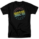 Beverly Hills 90210 Color Blend Logo Adult 18/1 T-Shirt Black
