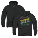 Beverly Hills 90210 Color Blend Logo (Back Print) Adult Zipper Hoodie Sweatshirt Black
