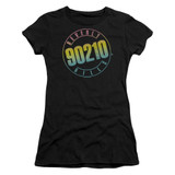 Beverly Hills 90210 Color Blend Logo Junior Women's Sheer T-Shirt Black