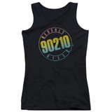 Beverly Hills 90210 Color Blend Logo Junior Women's Tank Top T-Shirt Top T-Shirt Black