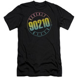 Beverly Hills 90210 Color Blend Logo Premium Adult 30/1 Black