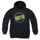 Beverly Hills 90210 Color Blend Logo Youth Pullover Hoodie Sweatshirt Black
