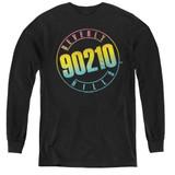 Beverly Hills 90210 Color Blend Logo Youth Long Sleeve T-Shirt Black